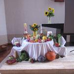 Erntedankgottesdienst in unserer Kirche St. Johannes