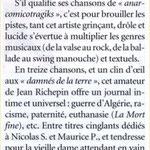 """Chronique dans """"Chorus""""( 2005)"""
