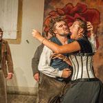 """Dans """"Les Rustres """" de Goldoni. Théâtre Cie Nihilo Nihil Juillet 2013"""