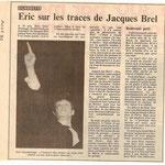 Tout premier article (Est Républicain 08/1990)