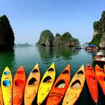 Vietnam, Kanutour in der Halong-Bucht