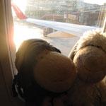 Im Flugzeug auf den Flughafen Berlin-Tegel