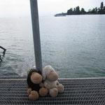 Der See war zuerst 21 Grad, später nach Regen nur noch 19 Grad