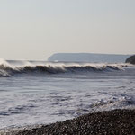 Der Wind ist auch auf den Wellen ersichtlich