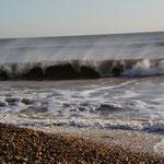 Der Wind weht das Wasser weg