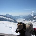 Aletschgletscher mit Konkordiaplatz und Mädels