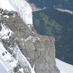 Ein Teil des Jungfrau-Gletschers