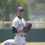 投手 竹下(4年:八幡高校出身)