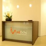 MedOchs Physiotherapie – Empfangsbereich.