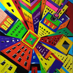 In the metropolis - Acrilico su tela - cm 50x70