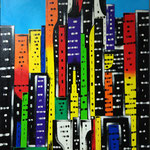 Big buildings - Acrilico su tela - cm 50x70