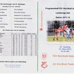 Programmhelft Landesliga Süd 2012 - Vorderseite & Tabelle