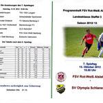 Programmhelft Landesklasse Staffel 3 2012 - Vorderseite & Tabelle
