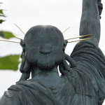 Statue de la Liberté sur l'Île aux Cygnes: Paris