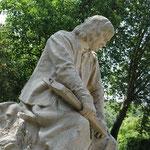 Statue de Poussin au Andelys
