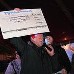 Klaus Deininger, KTW, stockt die Spendensumme um 2325,- € auf!