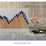 Die Aktienmärkte in der Krise. Und Bernie gleich mit. Seine Energiereserve zerfällt sogar zu Asche!
