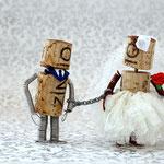 Die Hochzeit - statt Ringen gabs bei Korkens einfach eine Kette!