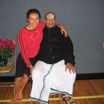 Natasha Teran & Pattabhi Jois - March 22 2005