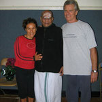 Natasha Teran, Pattabhi Jois, & Tim Miller - March 22 2005