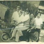 Clásica foto sobre montaje. Panimávida, 1975 aprox.