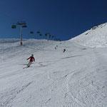 Skifahren in der Nähe des Rustico Costa-Secca. Eineinhalb Stunden Fahrtzeit.