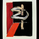 n.t.,  acrylic on paper, 51,5x38,5cm, signed 1987,     €350