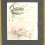 studie le objektu, pencil/aquarell, 66x63,7cm, signed, 1973, € 1.600