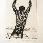 L'esprit de la terre< etching 21/30, 14,9x11,3cm, signed, 1939, €  400