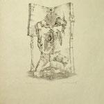 Impossibilita, graphic 12/30,  signed, 1966, 43x35cm,  sold