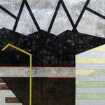 Toon Truyens, DOK, , 180 x 190 cm, collage op doek, 2010, n.t.k.
