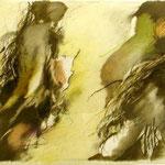 """erstes Grün', Graphit,Farbstift ,Papier, 79,5 x 105 cm, 2006,     € 1.800"
