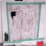 n. T.,        mixed media, acrylic, 61x57, 1988,                                         €  500