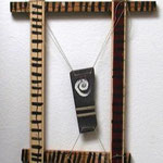 n.T. wood, slate, paint, cord, nails, 118x71 (over all)  1988,  €  500