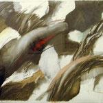 """""""ohne Titel"""" Graphit, Farbstift, Papier,115 x 150 cm, 2008  €  2.500"""