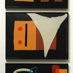 n.T.  silkscreen, cardboard, Tritych, edition of 75,  3x39,8x30, signed, 1992,     €  300