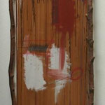 n.T. acrylic on wood, branch, 169x70 (over all)  1986,  € 500