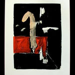 n.t.,  acrylic on paper, 50,5x36,5cm, signed 1987,     €350