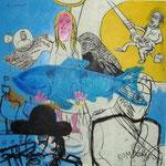 Hengel, potlood, acryl op hardboard    €    900