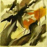 """""""ohne Titel"""" Graphit,Farbstift,Papier,  46 x 46 cm, 2009,      €     600"""