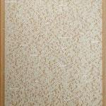 'Neue Tendenzen'  text, silk screen on glass in carton box, 82x71xm, 1993,   €   1.000