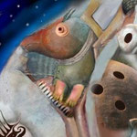 Nachtmusik, Variante1, acrylic, canvas, 100x70, signed 2008,