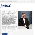 Neukonzeption, Design, redaktionelle Umsetzung, Übersetzung und Versand des Jedox Newsletters.