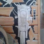 malerisch monochrom vorgezeichnet