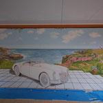 Vollendung der Landschaft mit detailliertem Meer;