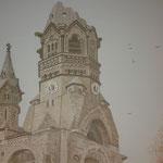 Detail vom Turm der Friedrich-Wilhelm-Gedächtnis-Kirche, Berlin