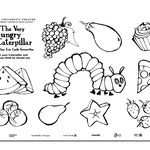 The Very Hungry Caterpillar - Illustration for Coloring Page (Chicago Children's Theatre)