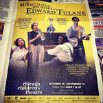 The Miraculous Journey of Edward Tulane - Printed Ad for Chicago Tribune (Chicago Children's Theatre)