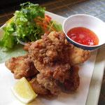 若鶏のから揚げ 海老塩風味¥680