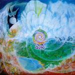 """Tibetanisches Rad des Gesetzes """"Tschoskor bskor"""""""